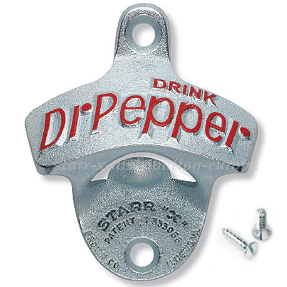 Dr. pepper mur-ouvre-bouteille usa rigide classique capsule élévateur mur-montage