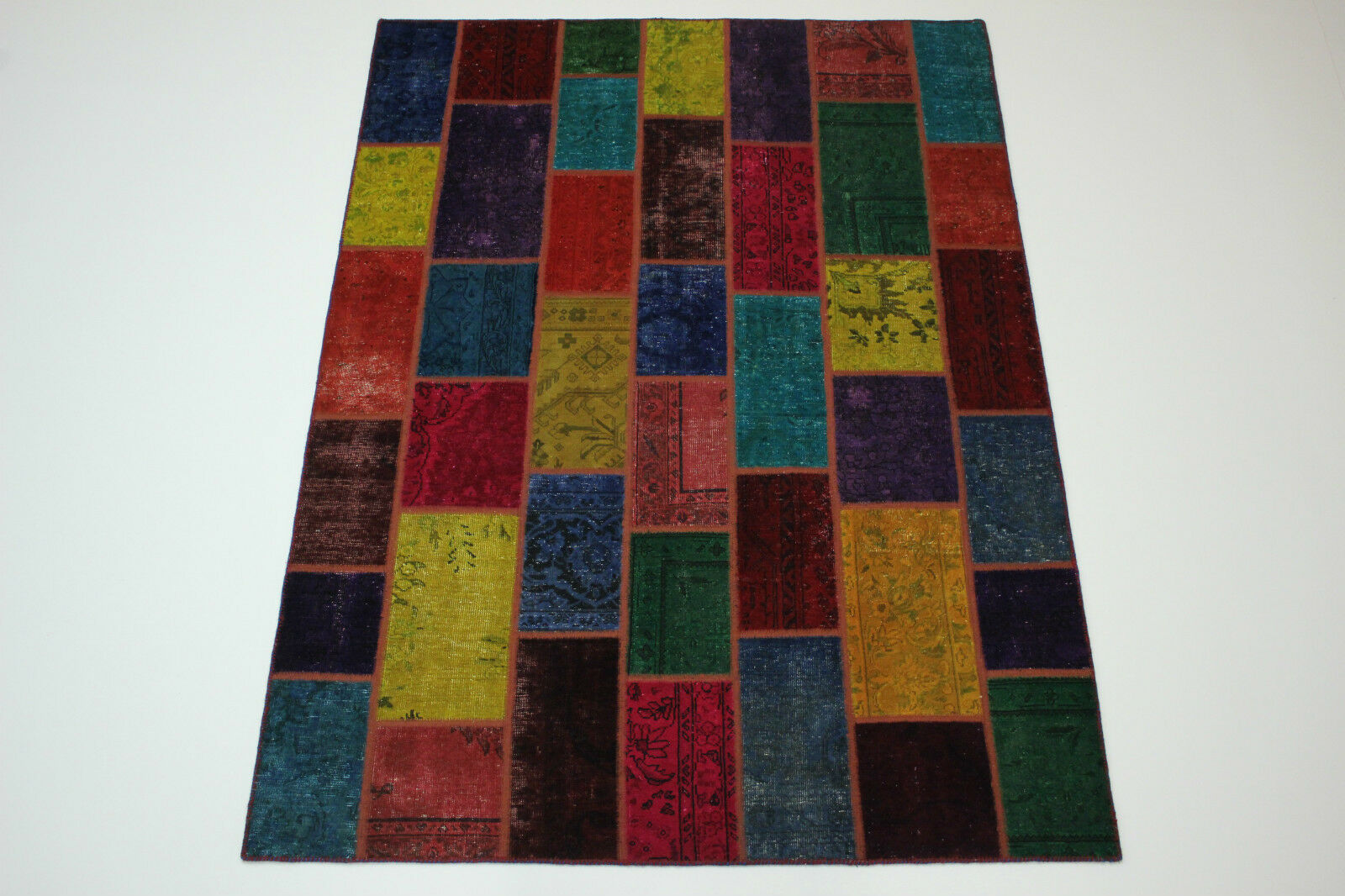 Moderno Patchwork Stone Wash Used Look Persa Alfombra Oriental 2,38 X 1,70