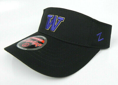 the latest newest collection special for shoe WASHINGTON HUSKIES UNIVERSITY NCAA BLACK ZEPHYR ADJUSTABLE VISOR ...