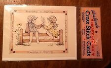 Vintage Alma Lynne's Cross Stitch Card With Pattern & Envelope -Friendship  NEW
