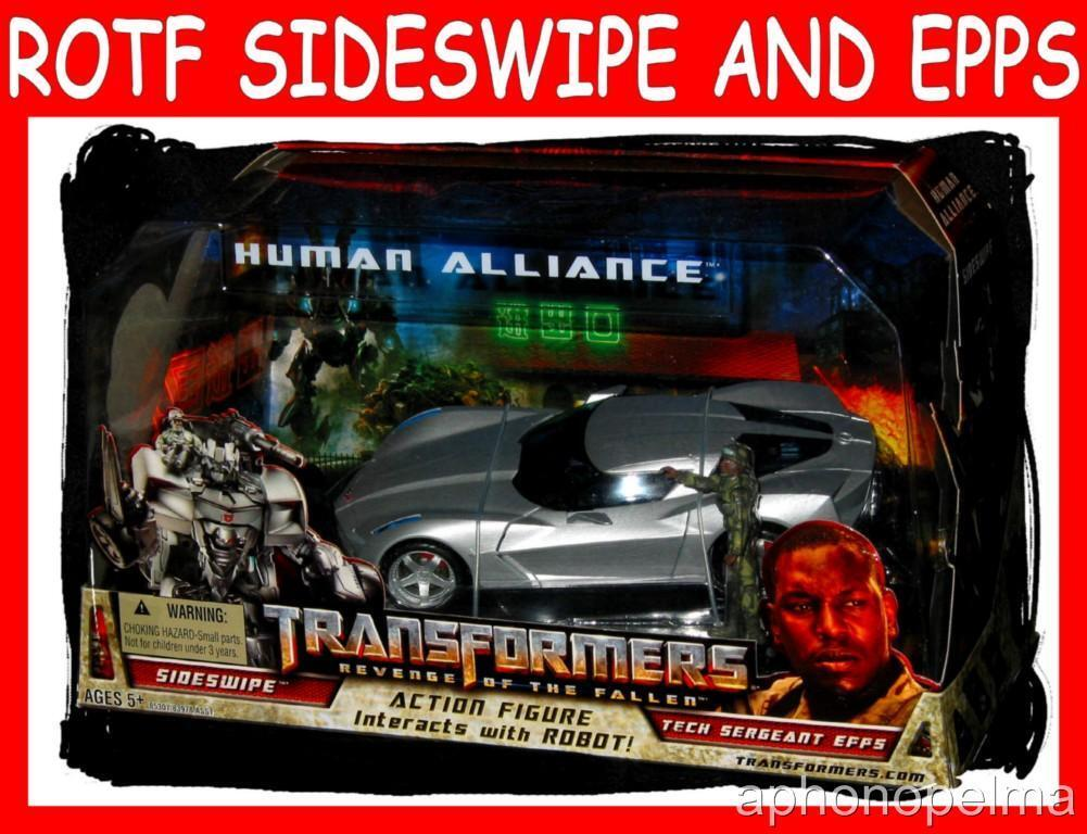 Transformers Huhomme Alliance  Sideswipe Avec SERGENT. Epps En parfait état, dans sa boîte scellée Original Hasbro  bien vendre partout dans le monde