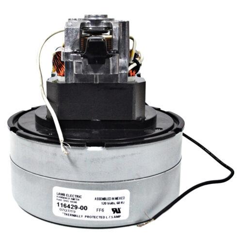 Ametek Lamb 5.7 Inch 2 Stage 120 Volt B//S Thru-Flow Vacuum Motor 116429-00