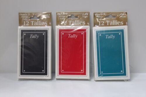 3-SET HOYLE BRIDGE TALLIES Card Game Tally Progressive 2/&3 Table Party NEW