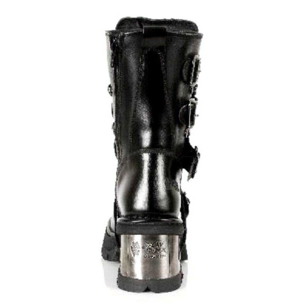 Newrock 373-s3 Donna Nero Punk 100% in Pelle Goth Punk Nero Emo Rock Biker Boots e14ec5