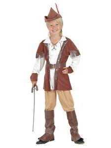 Boys Robin Hood Hunter Deluxe Fancy Dress Costume Book Week Childs ... 9e26c87ad1b5