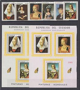 Ecuador-Sc-763-763Ef-MNH-1967-Famous-Paintings-cplt-set-2-s-s-VF