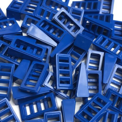 LEGO 30 X Blue Slope 2x1x2//3 avec 4 emplacements Grill pièces briques 61409 New city town