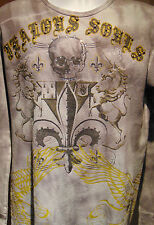"Bulzeye ""Jealous Souls"" Men's Graphic Design with studs and sequins Large"