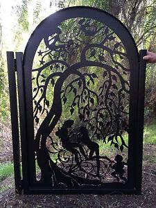 Details about Metal Art Gate Iron Garden Decorative Custom Walk Thru  Pedestrian Ornamental