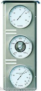 Wissenschaftliche Instrumente Kleingeräte Haushalt KüHn Fischer Wetterwarte Außen,barometer,thermometer,hygrometer,edelstahl,823-01