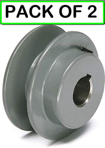 "2-PACK TB WOOD/'S AK2578 7//8/"" Fixed Bore 1 Groove V-Belt Pulley 2.55/"" OD"