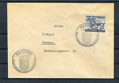 Ortsbrief Hamburg Dr Mi.-nr. 814 Ef Deutsches Derby Um Das Blaue Band - B3491