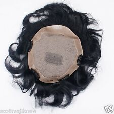 "Kabello Mirage Skin System Human Hair Toupee/Patch/ Wig Size 10X8"" in Dark Brown"