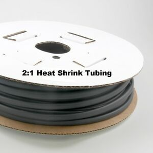 2:1 Heat shrink Tubing 3/8 50FT Black