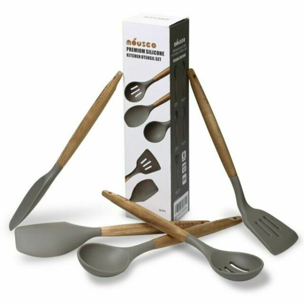 Miusco Synchkg088694 Silicone Cooking Utensil Set 5