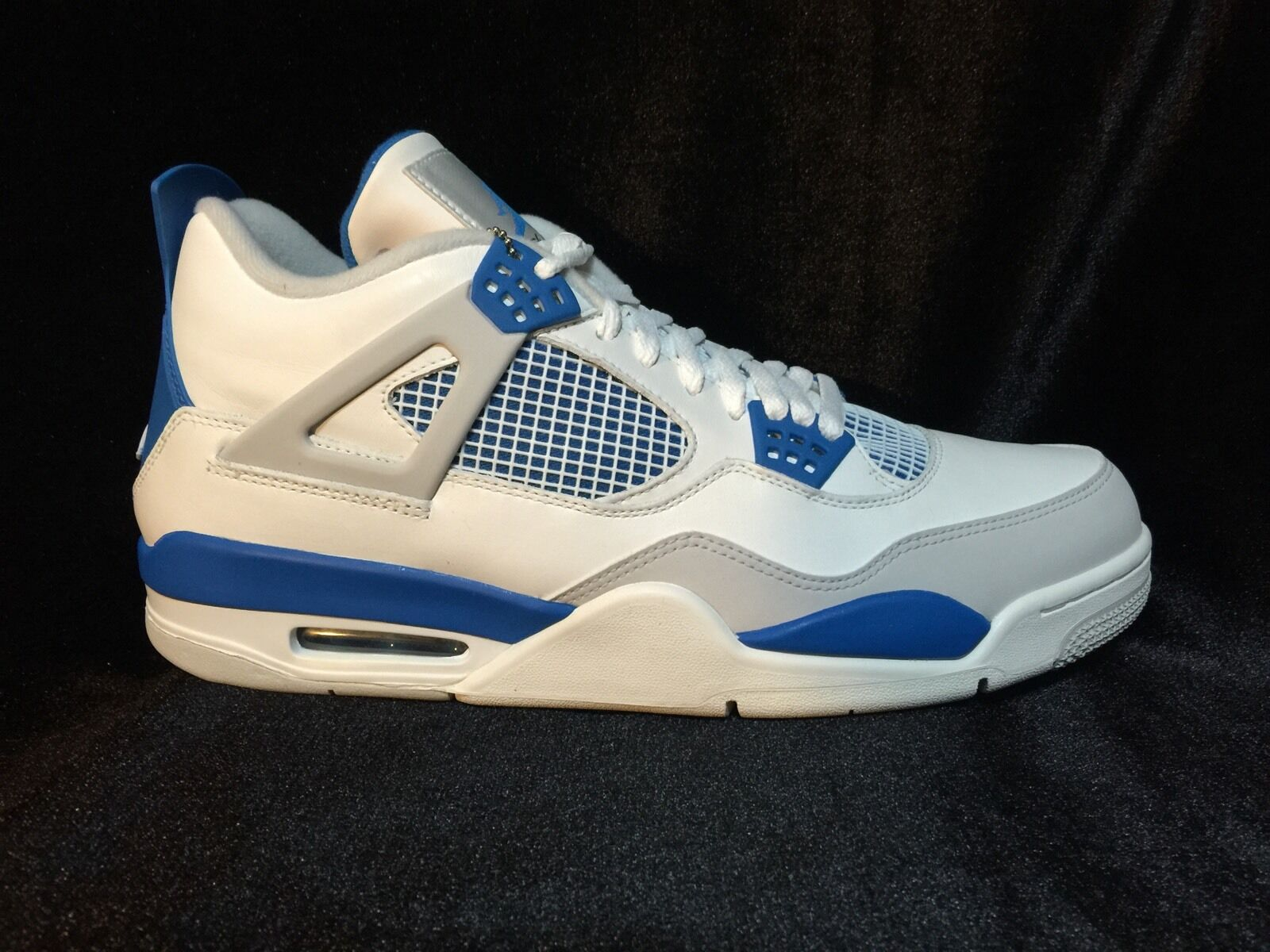 NIKE AIR JORDAN 4 RETRO IV MILITARY BLUE (308497-105)  NEW  Sz13