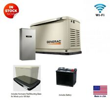 Standby Generator Lp Amp Ng Fired 10 Kw Hurricane Pad Battery Trans Switch