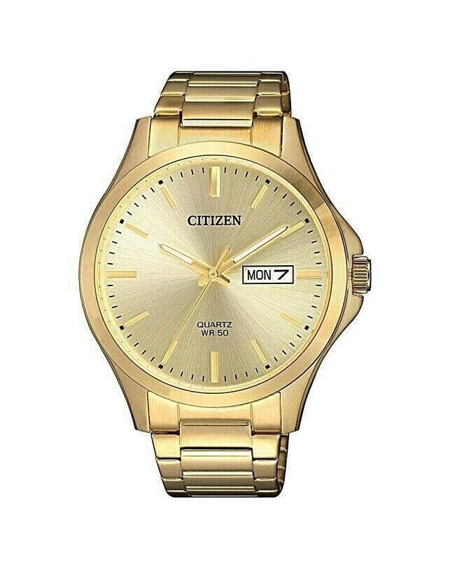 Citizen BF2003-84P Men's Quartz gold Tone gold Dial Casual Day Date Watch