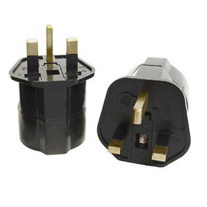 European-2-Pin-to-UK-3-Pin-Plug-Adaptor-Euro-EU-Travel-Mains-Adapter