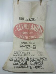 Group Of 5 Shelly Seed Cloth Bags Vintage Holgate Ohio INV-B04