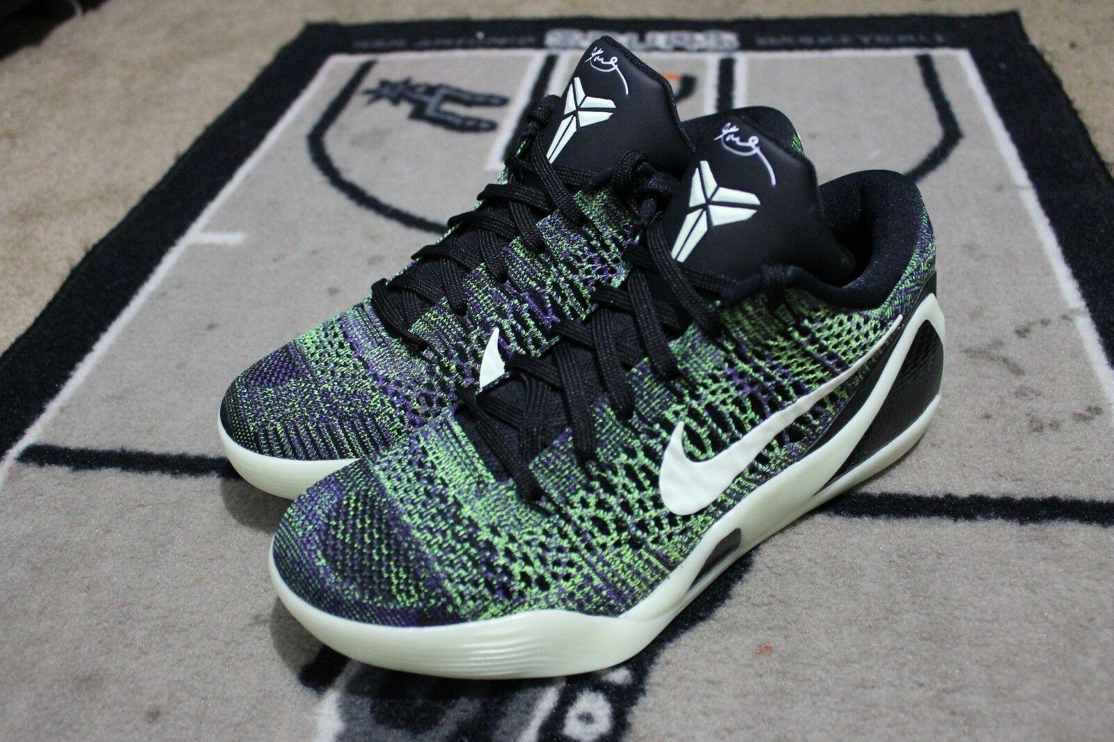 NEW Nike iD Kobe 9 Elite Flyknit Mamba Moment SZ 8.5 Multicolor GLOW IN THE DARK