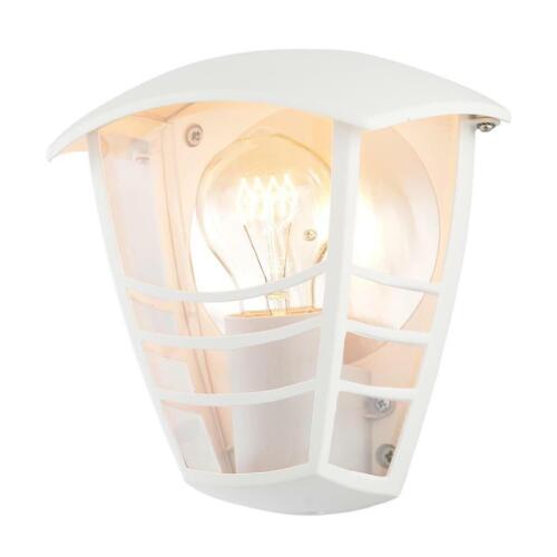 White LCC Pedita Outdoor Lighting IP44 Curved Wall Lantern Light