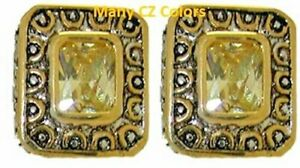 cz-cable-earrings-yellow-white18-kt-yellow-gold-plate-two-2-tone-quality-NWT