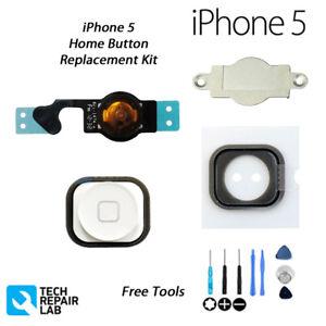 NUEVO-Repuesto-Completo-Boton-De-Inicio-reparacion-Kit-con-Toola-para-Iphone-5