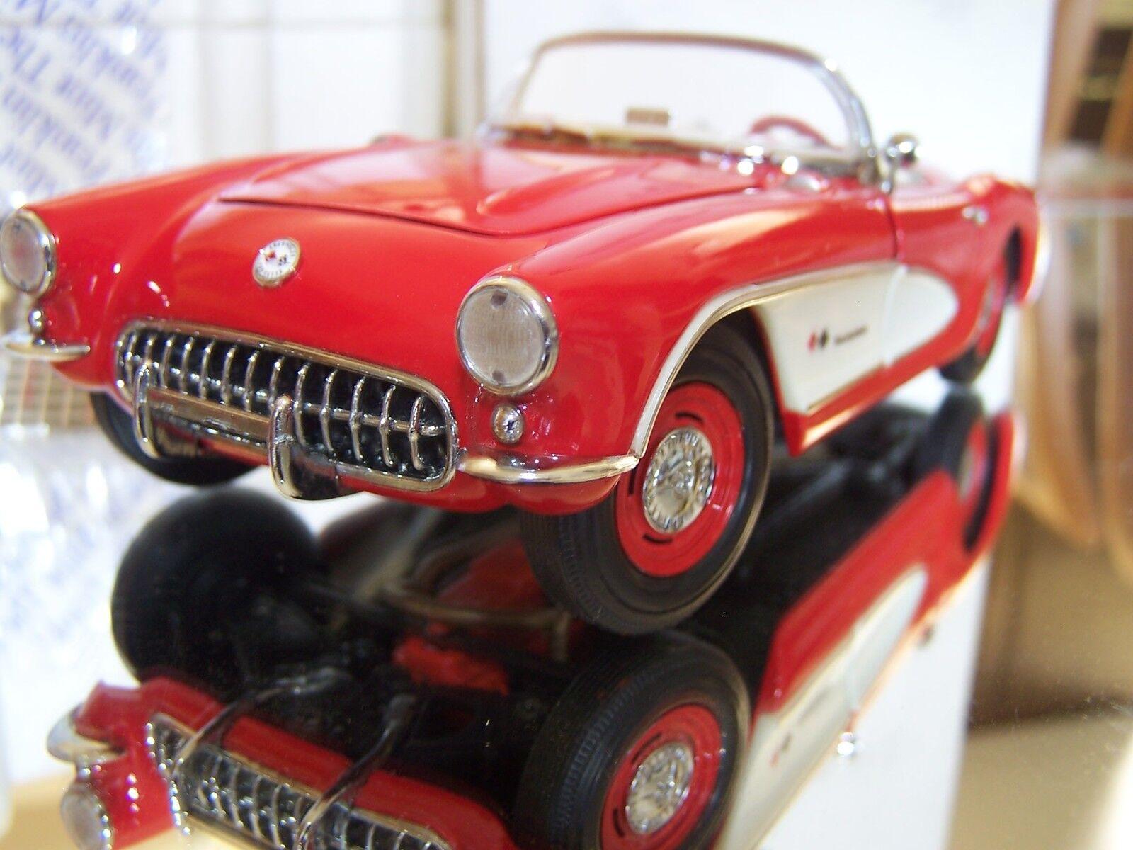 Franklin Comme neuf 1 24  Fuelie  1957 Corvette Convertible Comme neuf IN BOX (interrompu)