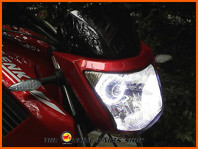 Super Bright White LED Angel Eye Halo Ring suits Suzuki Burgman 125 200 G 250