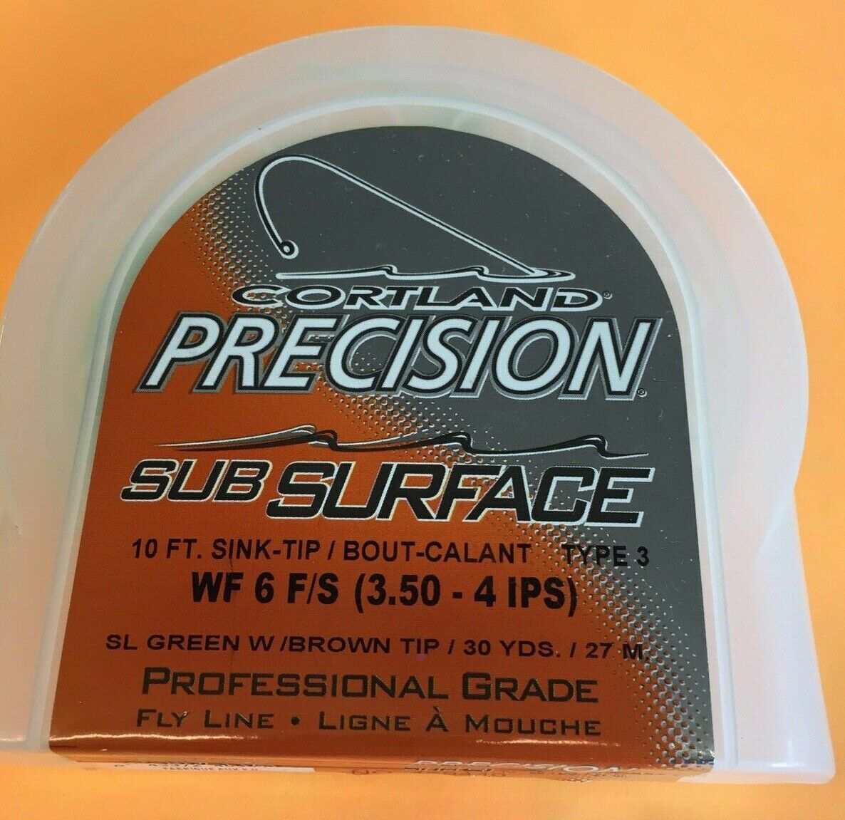 Cortland Precision Sub Surface WF6F S (3.5-4.  IPS) 10 ft sink tip type 3 Fly Lin  quality first consumers first