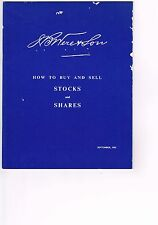 VINTAGE 1962 'HOW TO BUY & SELL STOCKS & SHARES J.B. Were & Son, Melbourne