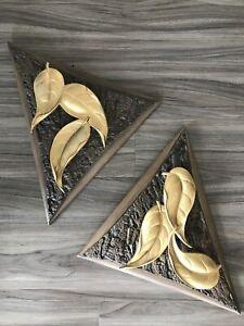 Vintage Arabesque Milieu du Siècle Moderne Burwood Wall Hanging Danois mod plaques art 3D