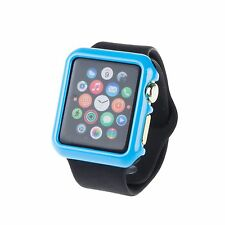 Tempered Glass Screen Protector + Slim Hard Case for Apple Watch iWatch 38/42mm