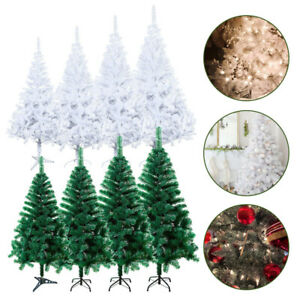 Christmas-Tree-4-7ft-Traditional-Spruce-Metal-Stand-Artificial-Colorado-Xmas