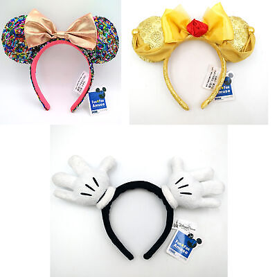 Minnie Ears Bow Sequins Disney Parks Polka Dot Limited Party 2019 Rock Headband