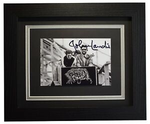 d77046fcc7a Image is loading John-Landis-Signed-10x8-Framed-Photo-Autograph-Display-