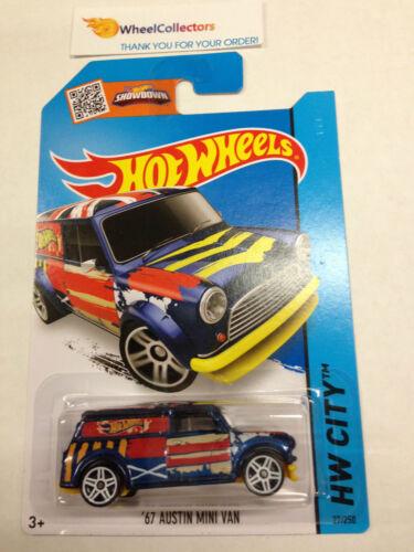 New Q Case 2015 Hot Wheels /'67 Austin Mini Van #27 BLUE F12