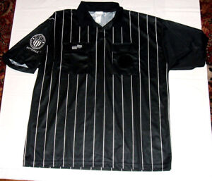 Referee Jersey hawaii scholastic soccer federation black Large dryfit