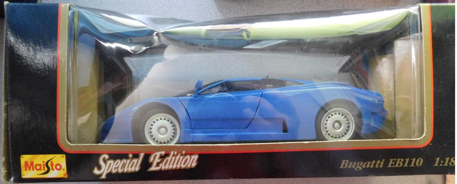 Maisto 1992 Bugatti EB110 Die Cast 1 18 Scale Scale Model Special Edition