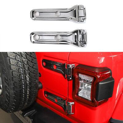 Light Color, Rear Window Hinge Decor RT-TCZ Rear Tail Door Window Hinge Decorative Cover Trim for Jeep Wrangler JL 2018-2021
