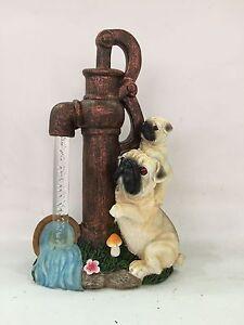 Gardenwize carlin chiot avec pompe à eau solaire jardin patio animal ornement-afficher le titre d`origine VvGCgHOK-07184212-977869704