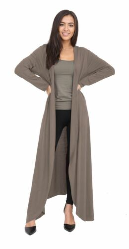 New Ladies Long Maxi Floaty Open Front Boyfriend Cardigan Tops Long Sleeve Coats