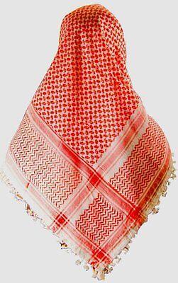 Arab Keffiyeh Cafia Kaffiyah Red /& White Shemagh Head Scarf plus Aqel