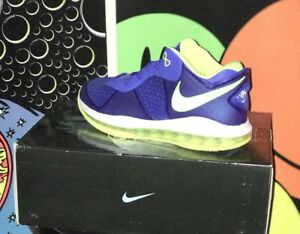 competitive price ec08f 78c21 Image is loading NIKE-LEBRON-8-VIII-V2-LOW-BLUE-VOLT-