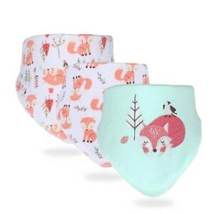 3pc Baby Bibs Cotton Bandana Bibs Newborn Burp Cloth Feeding Accessories Muslin