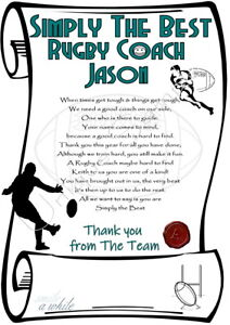 50dd67120 Image is loading Rugby-Football-Coach-Personalised-Thank-You-Xmas-Card-