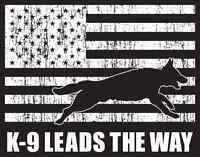 Police & Working K9 Foundation k9 Leads The Way T-shirt Black 100%cotton