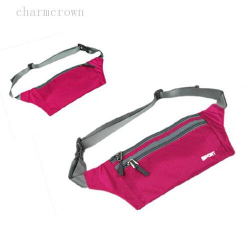 Womens Men Running Bag Waterproof Sport Camping Hiking Belt Bum Waist Pouch Pack