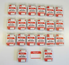2000 Red Hello My Name Is Name Tags Labels Badges Stickers Peel Stick Adhesive